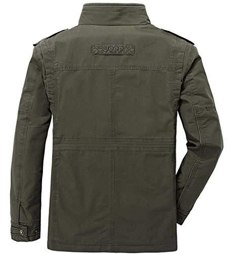 Da Caccia Giacca Cotone In Taglie Grün Fashion Bomber Militare Hx Ntel Abiti Armee Comode Uomo Invernale xqCE5nw