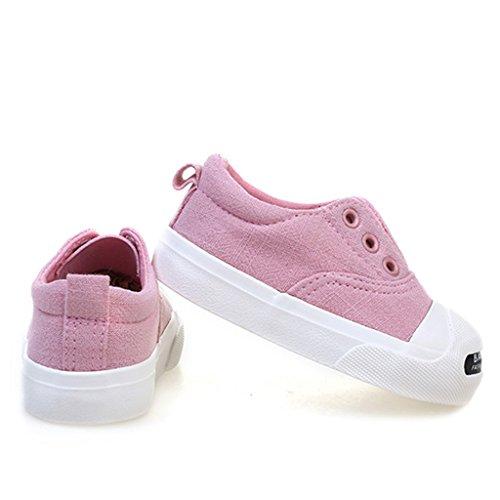 ALUK- Zapatos de bebé - Zapatos de lona para niños ( Color : Gris , Tamaño : 21 ) Pink