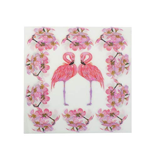 (Disposable Party Tableware - Pink Flamingo Bird Theme Paper Napkin Festive Party Tissue Decoupage Decoration Decor 33 33cm - Tableware Party Disposable)