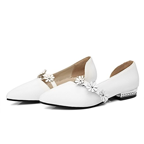 Sandals Womens ASL04440 White Ground BalaMasa Tooth Hounds Closed Toe Urethane Soft Sandals H5qgWxw