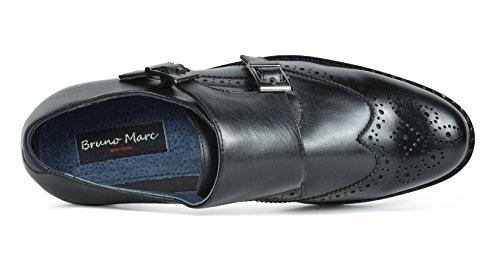 Bruno Marc Heren Prins Leer Bekleed Wing-tip Jurk Oxford Schoenen Zwart-15