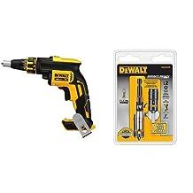 DEWALT DCF620B 20-Volt MAX XR Li-Ion Brushless Drywall Screw Gun Bare Tool & DEWALT DWA3HLDIR 3-Inch Impact Ready Bit Tip Holders with Screwlock Sleeve