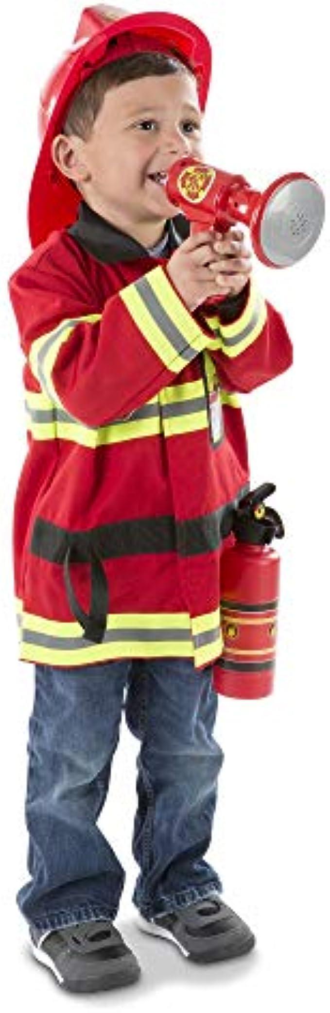 Melissa & Doug Fire Chief Role Play Costume Dress-Up Set- FFP