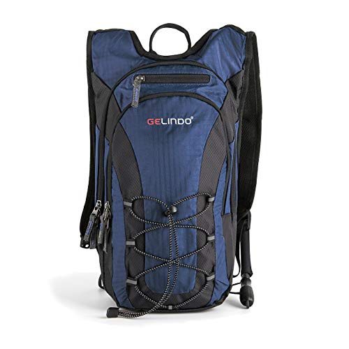 Hydration Daypacks - Gelindo Lightweight Hydration Backpack Pack with 2.5L/ 85oz BPA Free Water Bladder Daypack with Insulated Compartment Prefect Outdoor Gear for Trail Running Cycling Camping Hiking 10L