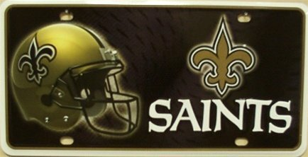 America sports New Orleans Saints NFL Football License Plate