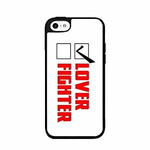 Lover Not Fighter- 2-Piece Dual Layer Phone Case Back Cover iPhone 5 5s by icecream design