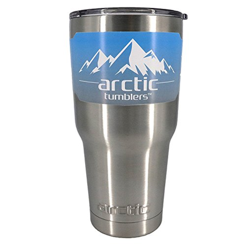 30 oz Double Wall Vacuum Insulated Premium Camping & Travel Tumbler Thermos with Splash Proof Lid and Gift Box! Stainless Steel