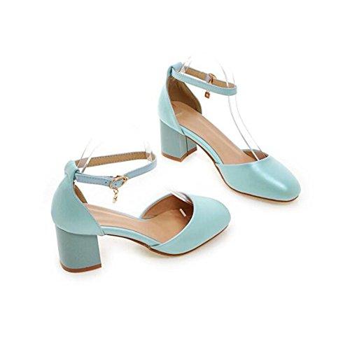 Blue del Otoño De Alto Verano Huecas Sandalias La Tacón Primavera Y Diamante Moda del Nuevas Atractivas q4vAZa