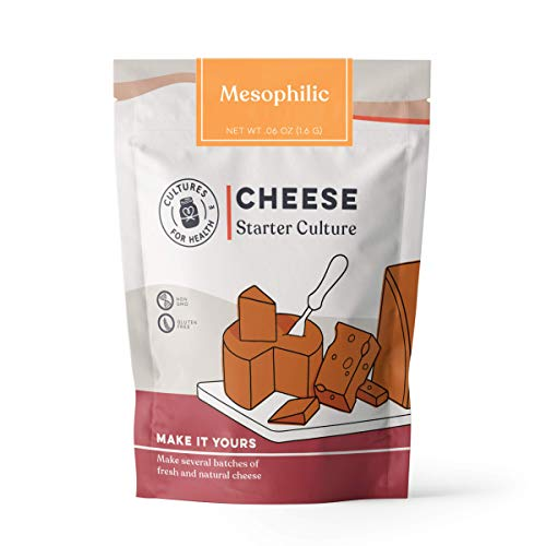 Mesophilic Cheese Starter Culture | Cultures For Health | Versatile Mesophilic Cheese Culture That Can Make Many Types Of Cheese | Non GMO, Gluten Free | 8 Packets In A - Cheese Gouda Goat