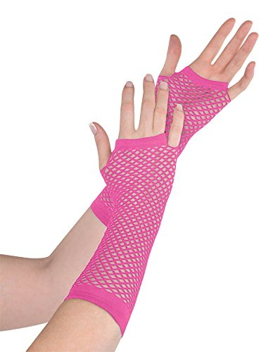 Black Fishnet Glove - amscan Black Long Fishnet Fingerless Gloves