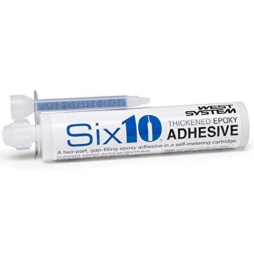 West Systems 610 Resin/Hardener Epoxy Adhesive, 190mL Cartridge, Straw