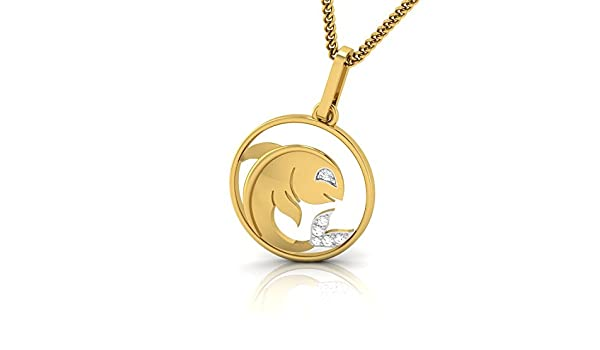 Ashley Jewels Simulated Diamond Studded Elegant Fashion Charm Pendant Necklace in 14K Yellow Gold Plated With Box Chain