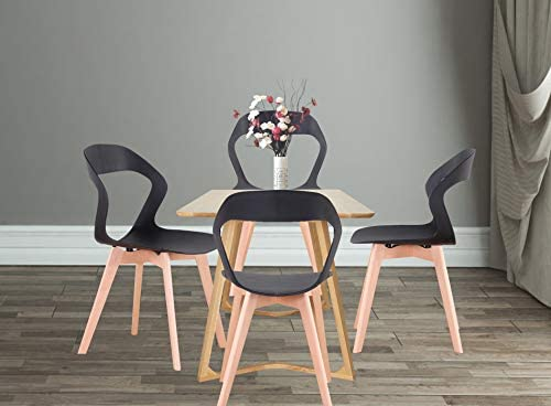 45678 Set of 4 Nordic style chairs with plastic back, Hollow out modern design for living room, dining room, office, meeting room, restaurant