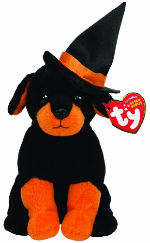 Ty Beanie Baby Alacazam Dog with Witch Hat