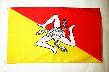 AZ FLAG Bandera de la Sicilia 150x90cm - Bandera SICILIANA - Italia 90 x 150 cm