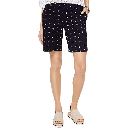 - Tommy Hilfiger Womens Nautical Anchor Print Bermuda Shorts Navy 12