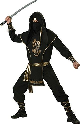 [GTH Men's Ninja Warrior Suit Theme Party Fancy Dress Costume, X-Large (46-48)] (Comical Fancy Dress Costumes)