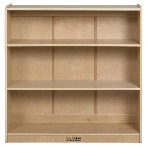 ECR4Kids Birch Adjustable Shelf Bookcase, 36