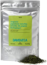 DAVIDsTEA Organic Japanese Sencha Loose Leaf Tea, Premium Sencha Green Tea from Mount Fuji, Japan, Refreshing