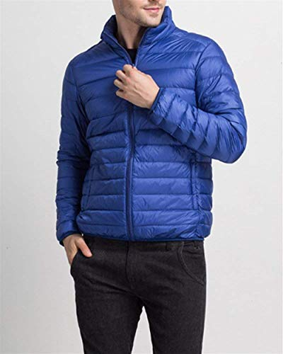 Long Winter fashion Sleeve Zipper Jacket Saphirblau Down Clásico Outerwear Boy Men's Jacket Quilted Warm Coats Laisla Men with Jacket APEwH7q1q