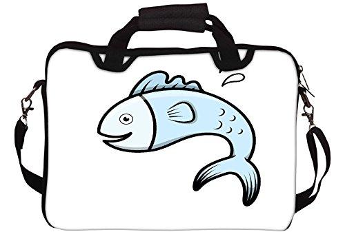 Snoogg nette Karikatur-Katze mit Kätzchen Vector Cartoon Illustration Gedruckt Notebook-Tasche mit Schultergurt 15 bis 15,6 Zoll