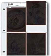 Archival Negative Pages Holds Four 4 x 5 Inches Negatives or Transparencies, Pack of 25