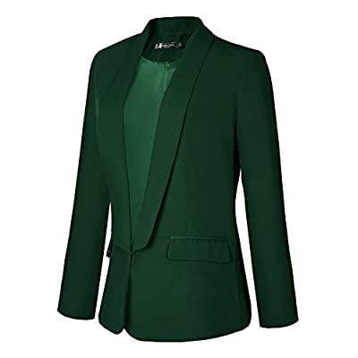 Urban CoCo Women's Office Blazer Jacket Open Front at Women's Clothing store