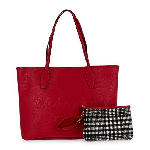 685900 Da Byblos lovelywinter Rosso Grandi Blu Shopping Borse Donna YBHxgw