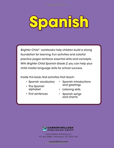 Spanish workbook grade 2 brighter child workbooks brighter child spanish workbook grade 2 brighter child workbooks brighter child carson dellosa publishing 9781483816562 amazon books m4hsunfo