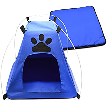 Pet C&ing Gear/Pet Tent /Dog Tent /Cat Tent /Pop Up Pet Tent/Pet Shelter Tent for Indoor Outdoor Small Dogs or Catsby Freehawk (Blue)  sc 1 st  Amazon.com & Amazon.com : NEW Small Pop Up Camping Tent 14 Inch Black Nylon DOG ...