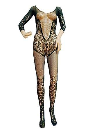 Free Size Nylon Body Stocking For Women - Black - 8507