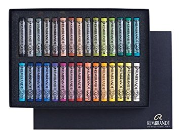 (Rembrandt Soft Pastels Cardboard Box Set of 30 Full Sticks - Assorted Colors)