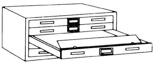 Mayline C-Files 5 Drawer Flat Files Metal Cabinet - White