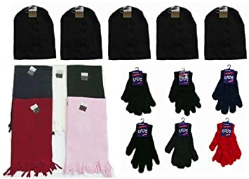 Amazon.com  Bulk Buys Winter Hats  44  Gloves and Scarves - Case of ... ed2015ea60b8