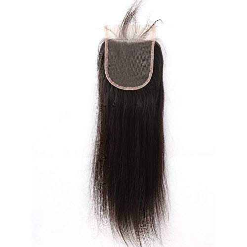 """Sent Hair Lace Closure Straight Human Hair Closure Free Part with Baby Hair Bleached Knots Natural Color 4x4 20"""" -  Qingdao Sent Hair Products Co.,Ltd., ST-C-F20"""