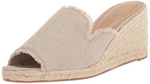 Lauren Ralph Lauren Women's CARLYNDA Espadrille Wedge Sandal Flax 9.5 B ()