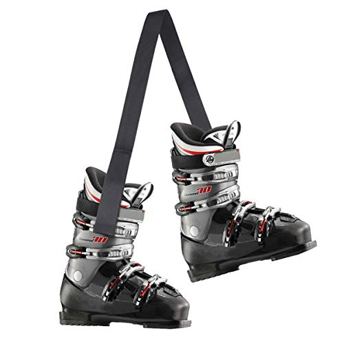 AIEVE Ski Carrier Strap,2 Pack Ski and Snowboard Boot Carrier Strap Shoulder Sling for Carrying Ice Skates,Ski Poles,Rollerblades (Boot not Included)