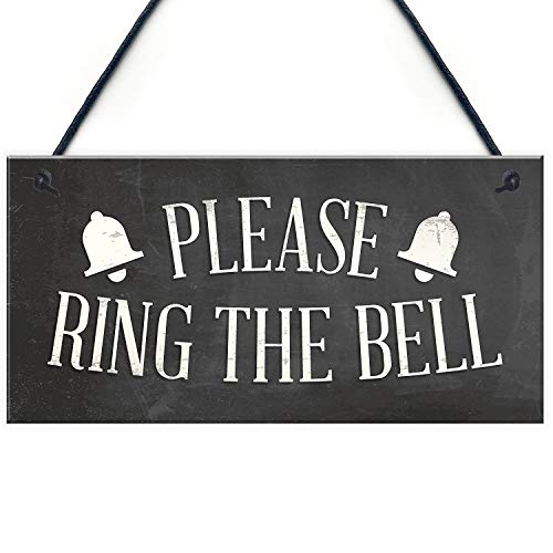 "Meijiafei Please Ring The Bell House Door Hanging Plaque Garden Home Decor Sign Notice 10"" X 5"" from Meijiafei"