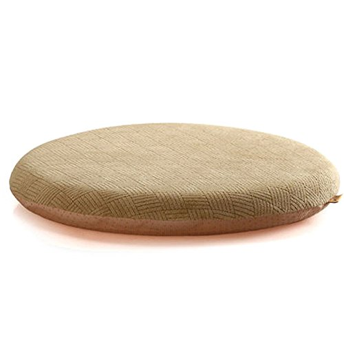 Sigmat Memory Foam Seat Cushion Anti-Slip Soft Round Stool Cushion Chair Pad 20 Inch Camel