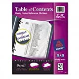 Avery Ready Index Classic Tab Titles, 31-Tab, 1-31, 8.5 X 11 Inches, Black/White, 31 per Set (3 Pack)