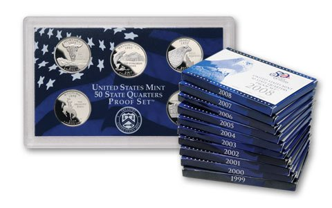2002 US Mint Quarter Proof Set