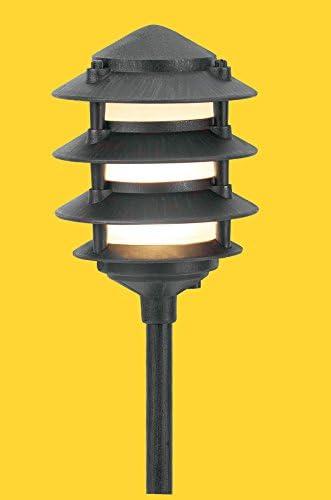 Corona CL-604-BK -Low Voltage 12V Area Light Aluminum 4 Tier Pagoda, Black