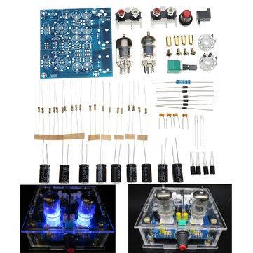 Arduino Compatible SCM & DIY Kits Arduino Compatible Kits & DIY Kits - 6J1 Pre-amp Tube Preamplifier Amplifier Stereo AC12V Kit - 1 x PCB board 1 x 2W 2.2 ohm metal film resistor (Kit Stereo Preamplifier)