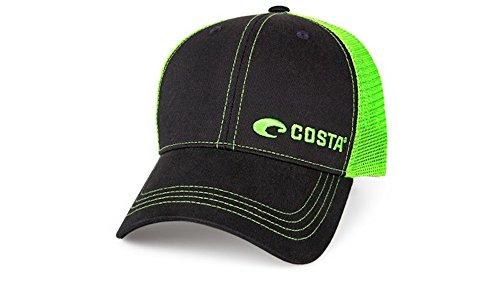 - Costa Del Mar Neon Trucker Black/Neon Green New 2017 Hat