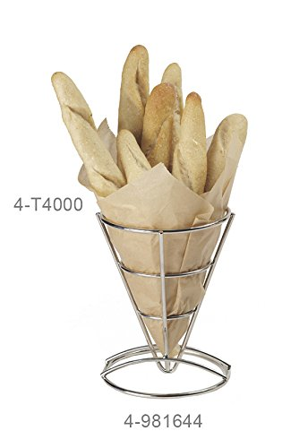 7'' Stainless Steel Tall Fry Cone, Clipper Mill by GET 4-981644 (Qty,1)