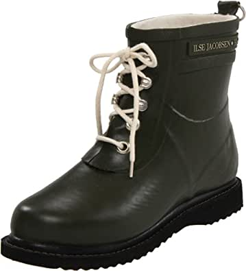 ILSE JACOBSEN Women's Rub 2 Rain Boot,Army,36 EU/6 M US