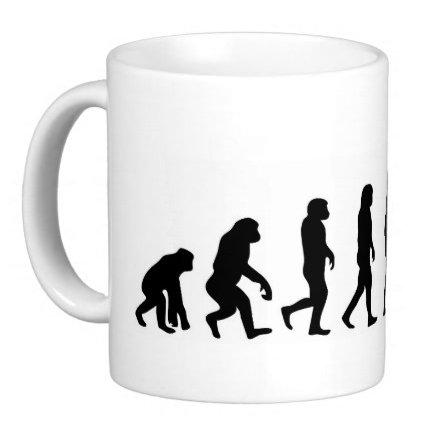 hochwertige Premium Keramik Tasse Evolution Boxing