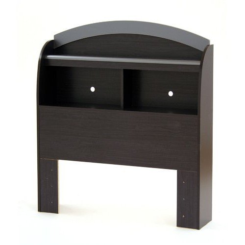 Black Onyx Bookcase (Cosmos Bookcase Twin Headboard, Charcoal and Black Onyx + Expert Guide)