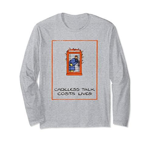 Careless Talk Costs Lives - Careless talk cost lives, vintage poster Long Sleeve T-Shirt