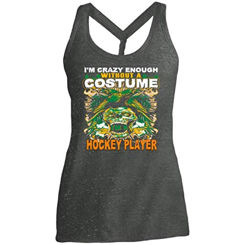 Women's Hockey Player Costume Halloween Funny Gifts Shirt - Tank Top]()